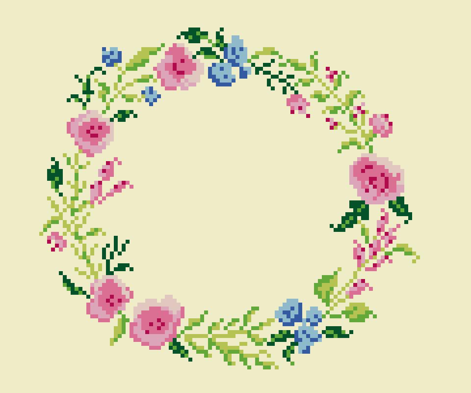 Flower Border 2 Craft Design Online
